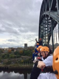 Tyne Bridge Zipwire Charity Event